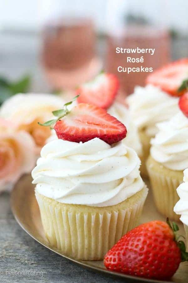 Strawberry Rose Cupcakes
