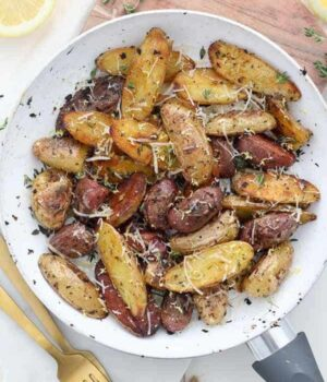 Crispy Roasted Lemon Potatoes