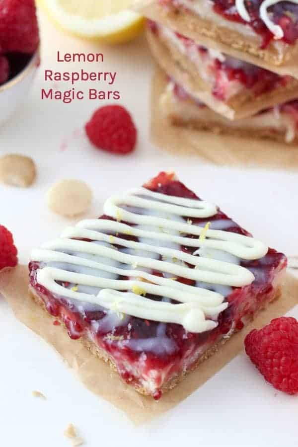 Lemon Raspberry Magic Bars