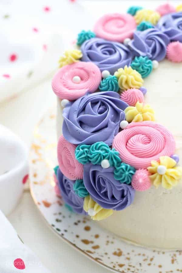 Buttercream Flower Cake - Beyond Frosting