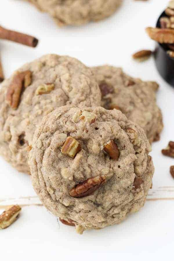 These oatmeal cookies are loaded with pecans