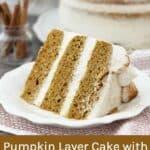 Pumpkin Layer Cake with Cinnamon Honey Mascarpone Frosting