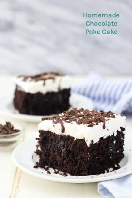 Homemade Easy Chocolate Poke Cake