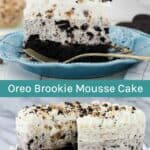 Oreo Brookie Mousse Cake Collage