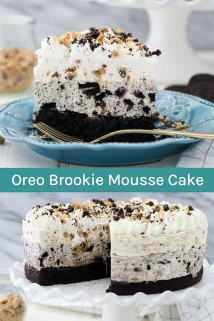 Oreo Brookie Mousse Cake Collage