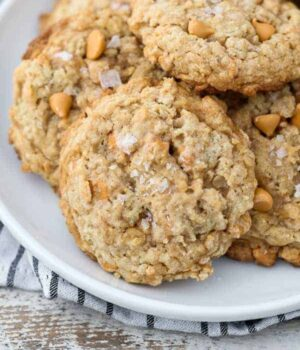Salted Caramel Butterscotch Oatmeal Cookie Recipe