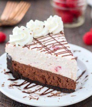 No-Bake Raspberry Chocolate Mousse Cake