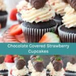 Chocolate and Strawberries Cupcakes