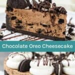 Chocolate Oreo Cheesecake Collage