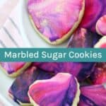 How to Make Sugar Cookies with marble icing