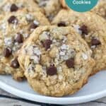 The BEST Chewy Oatmeal Chocolate Cookie