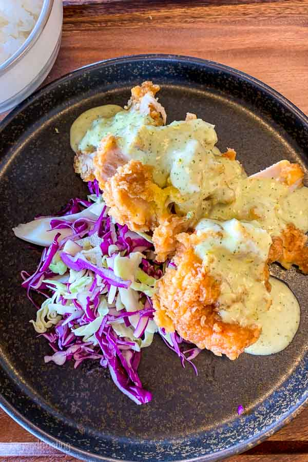 Skye Niseko Kumo restaurant Chicken Nanban