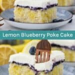 Lemon Blueberry Poke Cake Recipe - Easy Pudding Cake Idea!