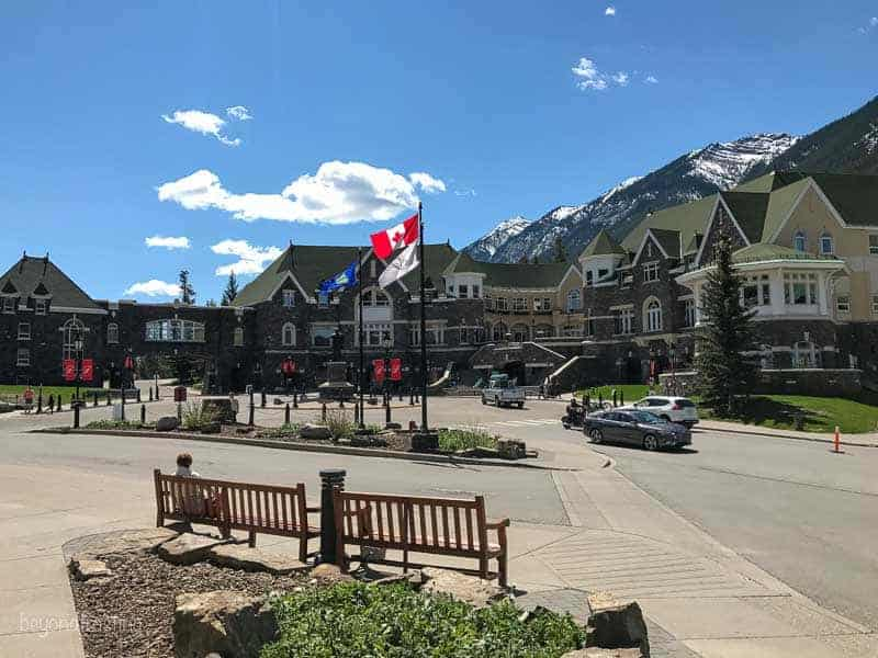Outside entrance of Fairmont Banff
