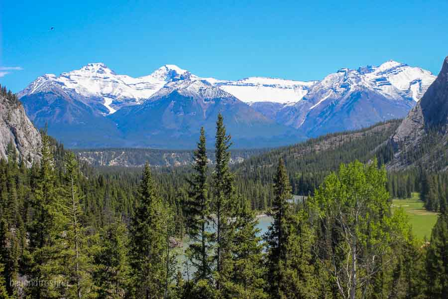 Views from Fairmont Banff hotel