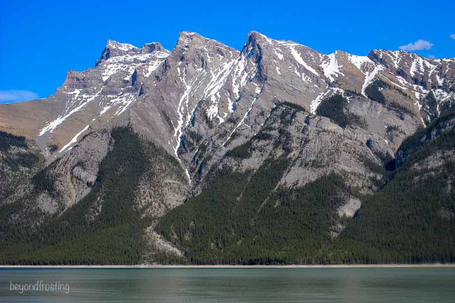 Lake Minnewanka in Banff National Park