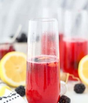 Blackberry French 75 Cocktail Recipe