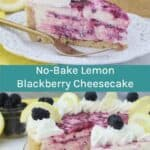 No-Bake Blackberry Lemon Cheesecake