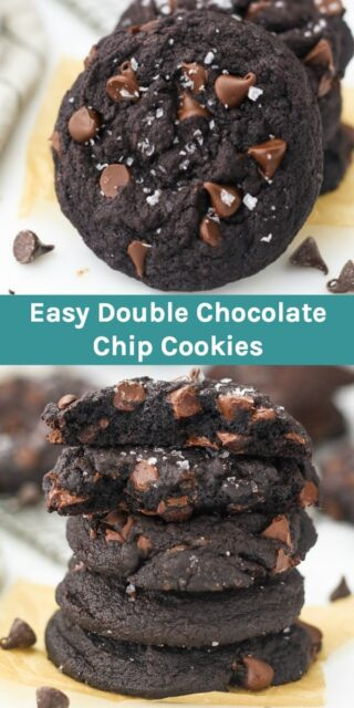 Soft baked Double Chocolate Chip Cookies