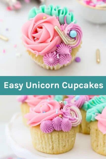 How to make easy Unicorn Cupcakes