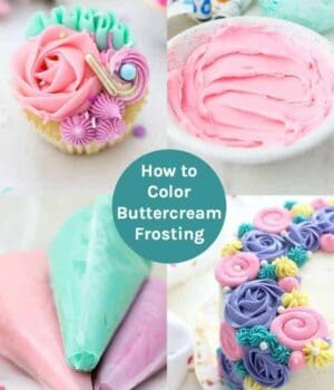 How to Color Buttercream Frosting