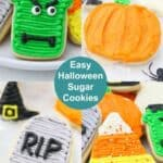 Easy decorated Halloween Sugar Cookies