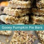 Gooey Pumpkin Pie Bars