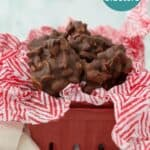 Easy Peanut Cluster made in a crockpot or on the stovetop
