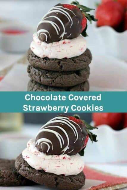 Chocolate Covered Strawberry Cake Mix Cookie