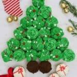 How to Make a Christmas Tree Cupcake Pull Apart Cake
