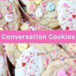 Valentines Day Conversation Heart Sugar Cookies