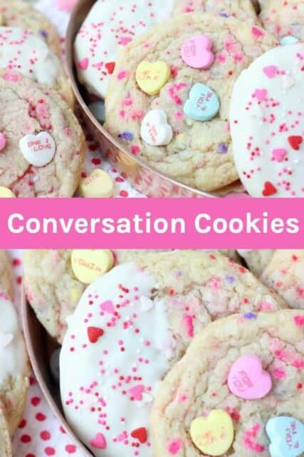 Valentines Day Conversation Heart Sugar Cookies