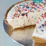 Low-Fat Funfetti Cheesecake Ice Cream Pie