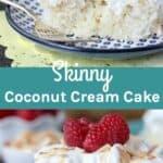 Skinny Coconut Cream Cake