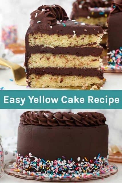 Easy Homemade Yellow Cake Recipe