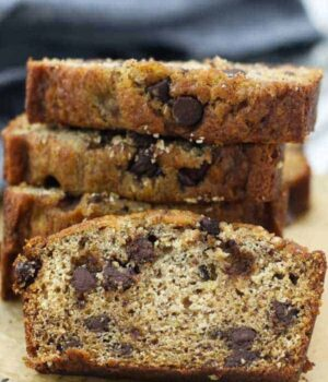 Cinnamon Chocolate Chip Banana Bread