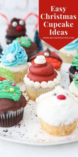 image of Christmas cupcakes with text overlay