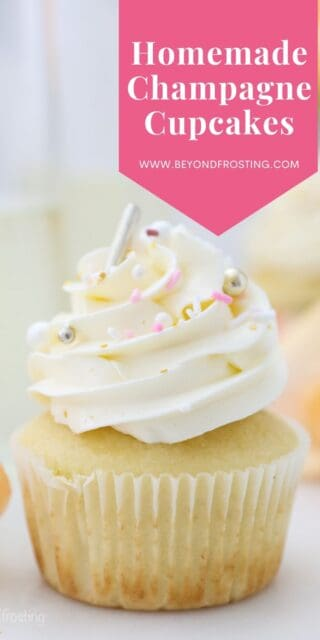 a picture of a frosted cupcake with text overlay