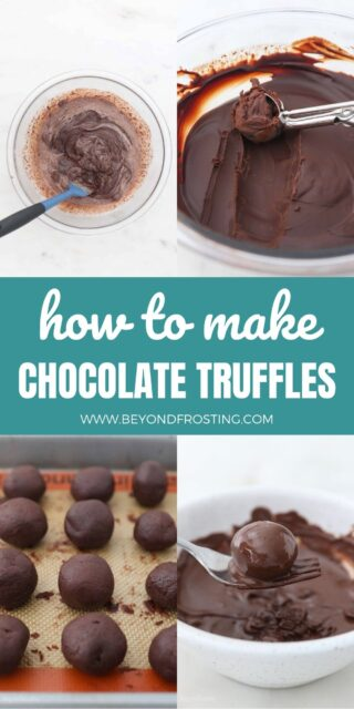 4 images showing how to make truffles with collage text