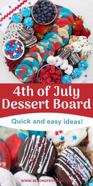 two images of 4th of July desserts with a text overlay